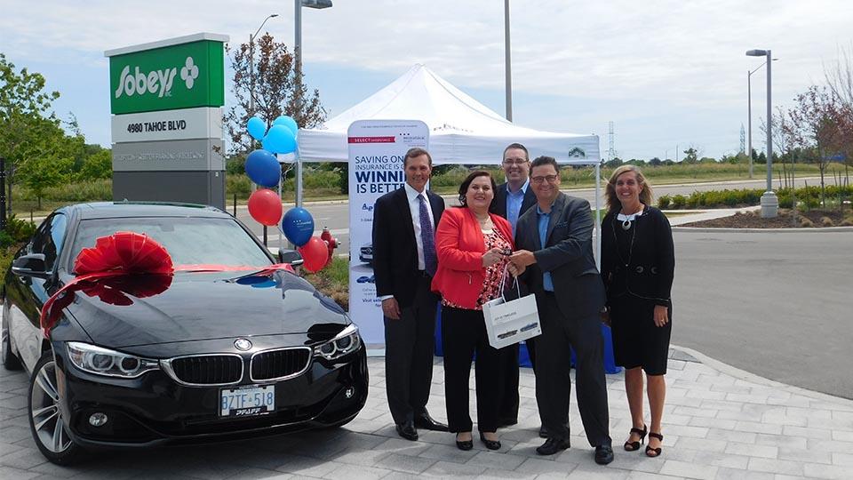 MyGroup Insurance Presents 2016 BMW to Sobeys Urban Fresh Employee
